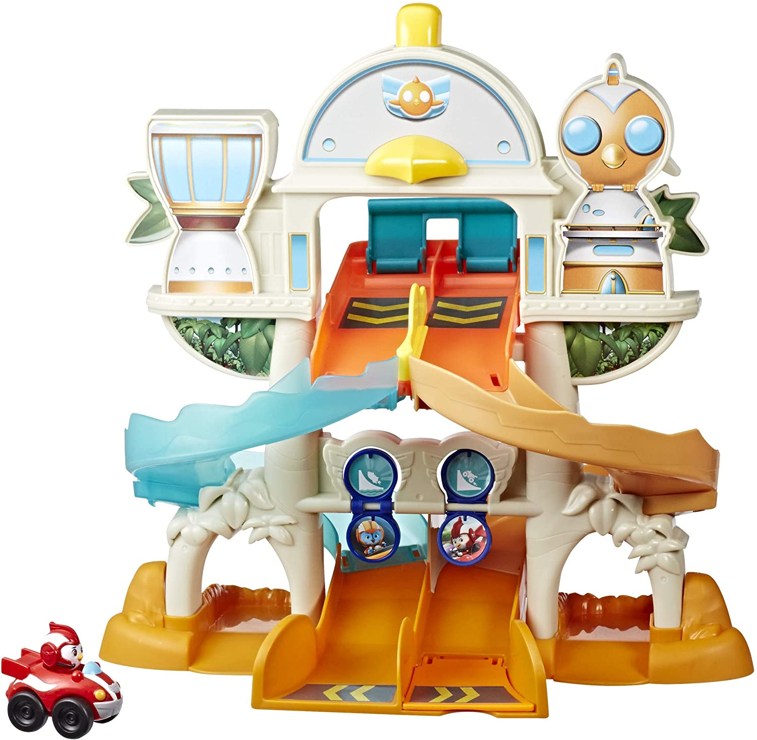 Top Wing Mission Ready Track Playset, Includes Ramp Jump & Double Vehicle Launcher Vehicles, Toy for Kids Ages 3 to 5, Model Number: E5277