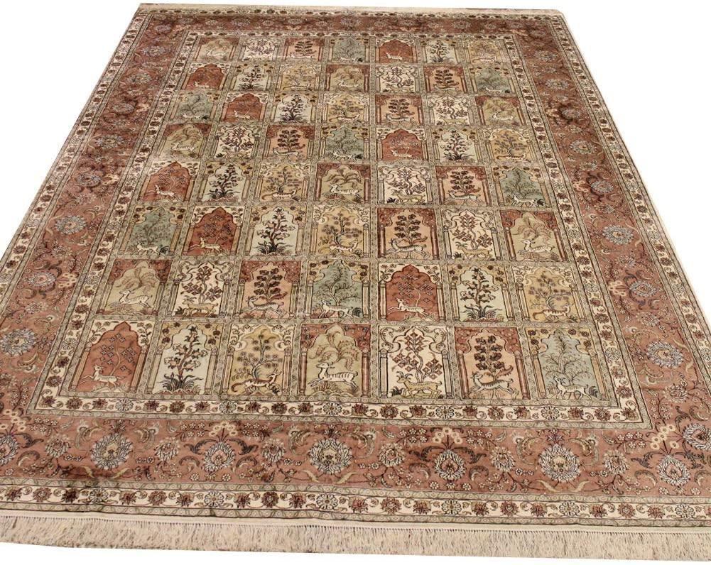 Camel Carpet 8'x12' Handwoven Silk Persian Rug Dinning Room Oriental Rug