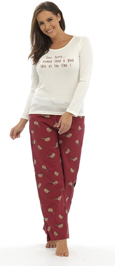 "Tom Franks Ladies ""Dear Santa"" Christmas Pajama Set"