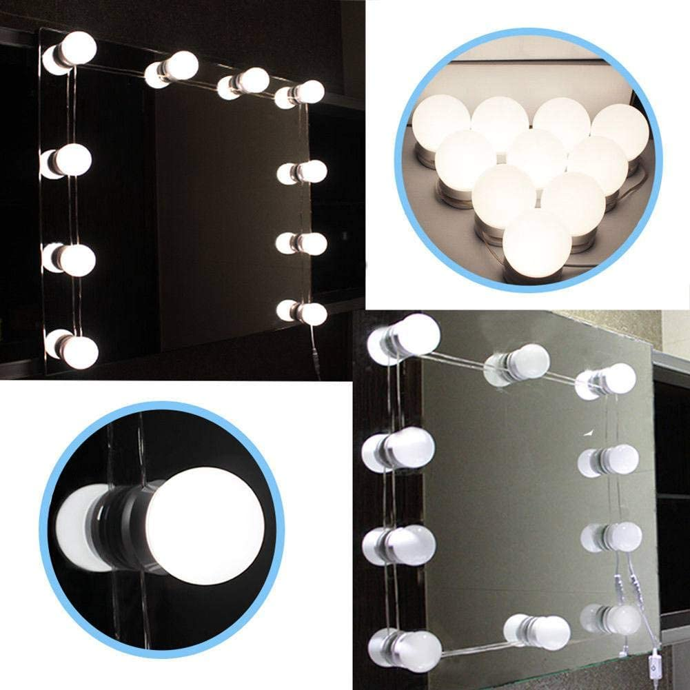 Peyan Hollywood Style LED Vanity Makeup Mirror Lights Kit with 10 Dimmable Bulbs (Mirror Not Include)