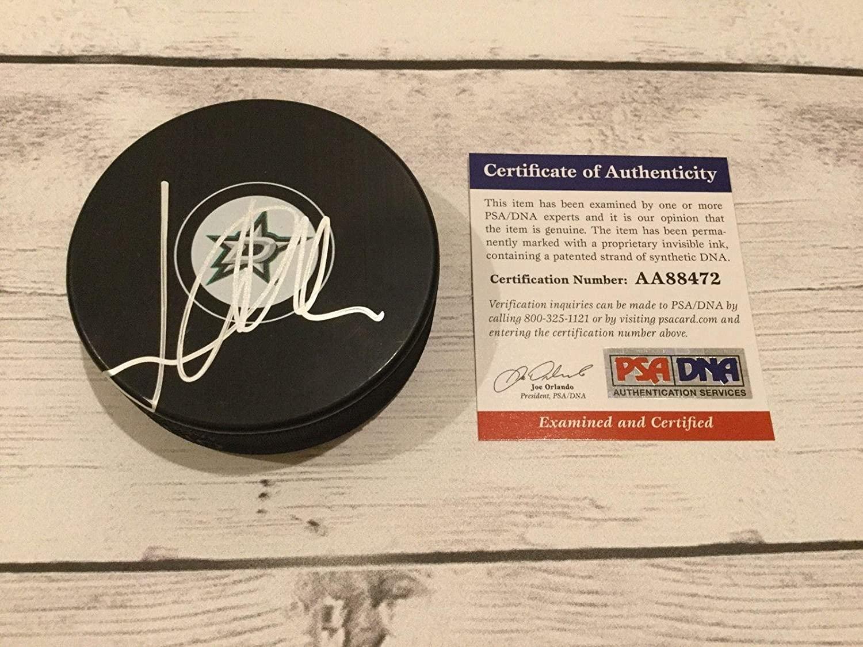 John Klingberg Signed Dallas Stars Hockey Puck PSA DNA COA Autographed b - Autographed NHL Pucks