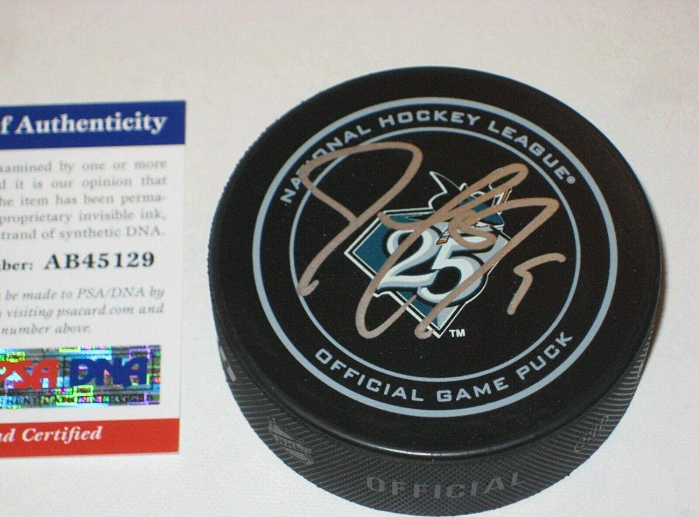 JOE THORNTON Signed San Jose SHARKS 25th Anniv Official GAME Puck w/PSA COA - Autographed NHL Pucks