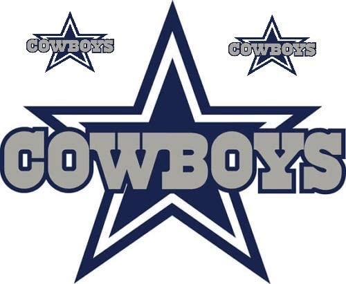 Dallas Star Stickers Team Colors (Any Size) Dallas Cowboy Stickers Decal Vinyl for car bamper, hemlet, Laptop, tumblers
