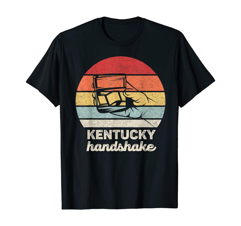 Retro Kentucky Handshake Shirt Funny Gifts Bourbon Whiskey T-Shirt