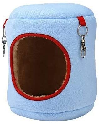 Pangpang Hamster House Guinea Pig Bed,Cat Hammock,Pet Hammock Rabbit Bed,Lovely Faux Wool Bed,Sleeping Nest Pet Bed Rat (Color : Blue, Size : Small)