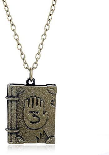 Calvas 19 Styles Drama Gravity Falls Mysteries Town Cipher Wheel Key Chain Pendant Journal DIY Pyramid Necklace Birthday Gift Jewelry - (Metal Color: 3)