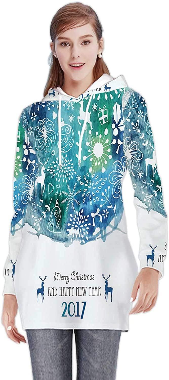 Bright Tropical Leaf Seamless Pattern. - Russia,Women's Sweatshirt Casual Long Sleeve Pullover Hoodie Dress Pattern S