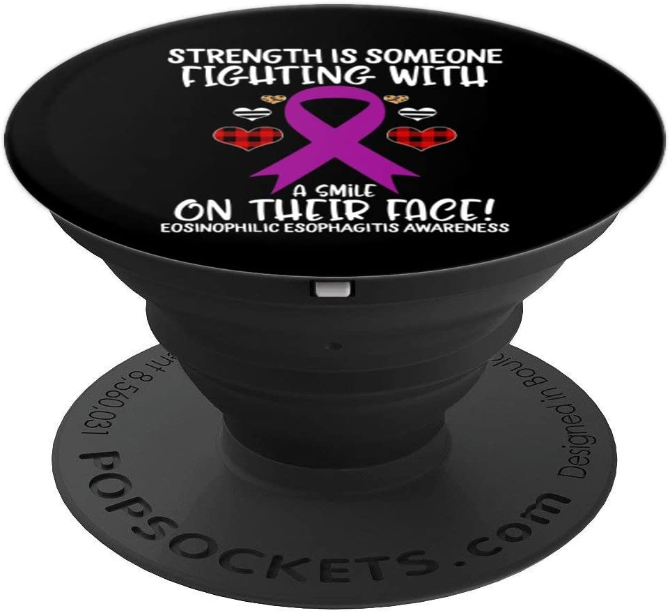 Eosinophilic Esophagitis Awareness Strength is Fighting with PopSockets Grip and Stand for Phones and Tablets