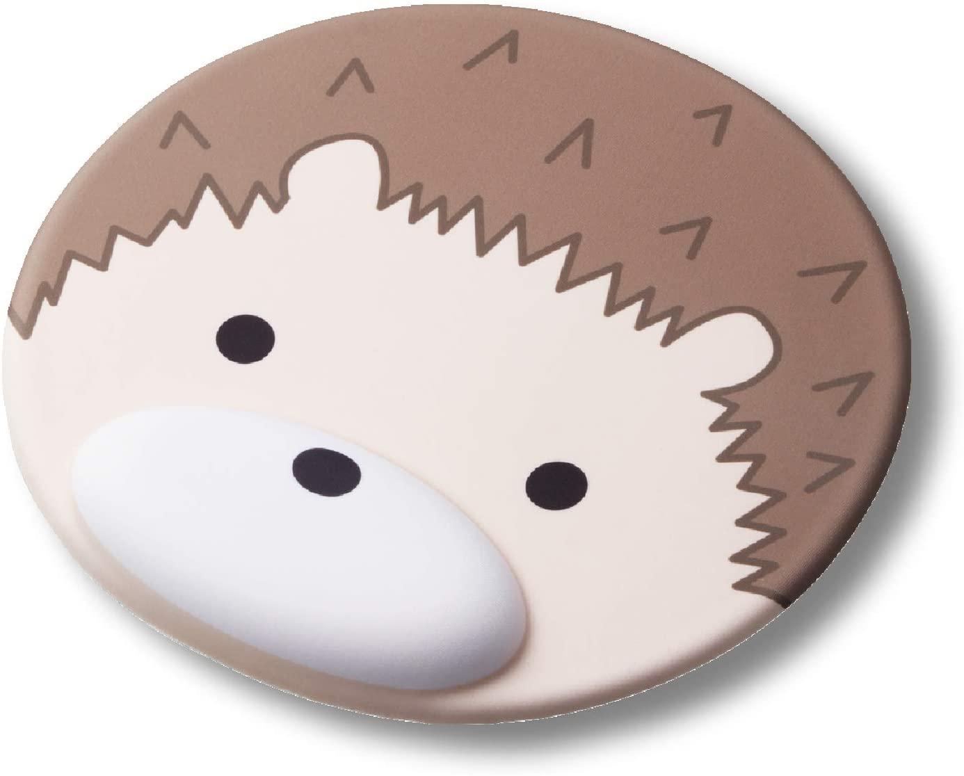 ELECOM Animal Mouse Pad with Wrist RestErgonomic Design Reduce Fatigue, Hedgehog (MP-AN01HED)
