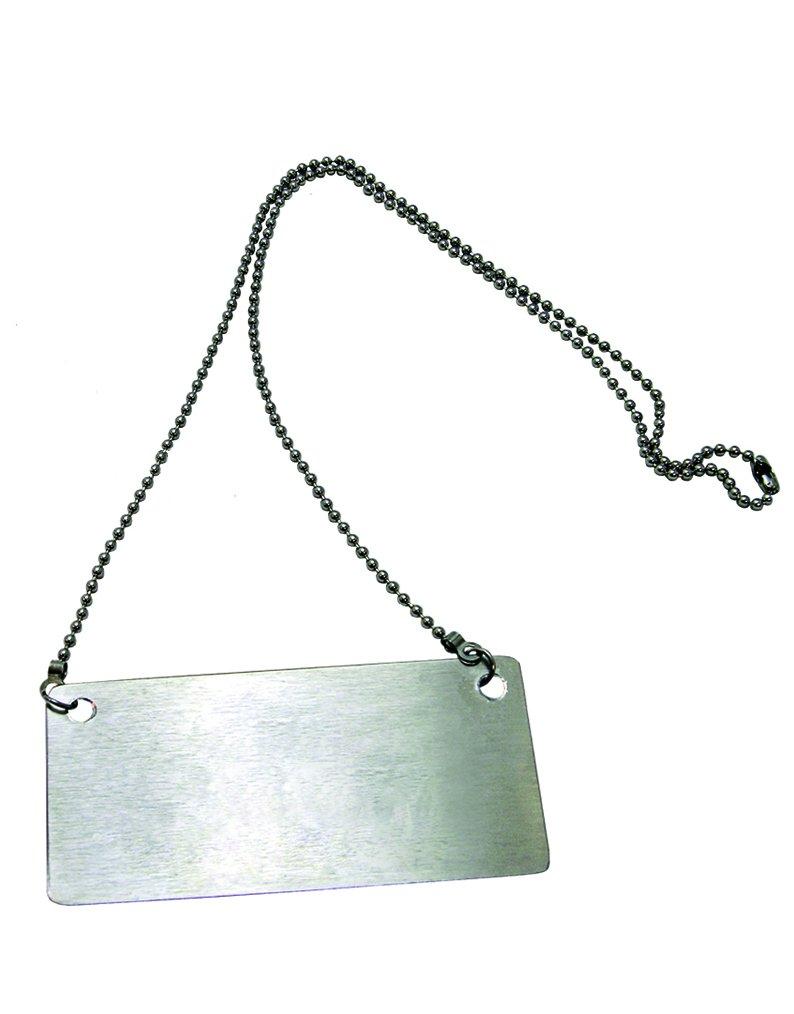 Update International CS-BLNK Silver Stainless Steel Beverage Chain Sign Blank, Stainless Steel