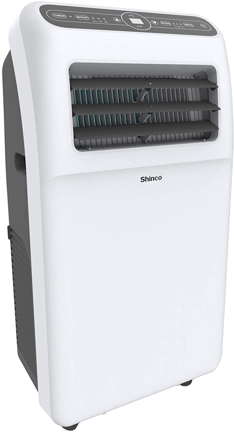 Shinco 9,700 BTU Portable Air Conditioner with Built-in Dehumidifier Function, Fan Mode, Quiet AC Unit Cools Rooms to 300 sq.ft, LED Display, Remote Control, Complete Window Mount Exhaust Kit