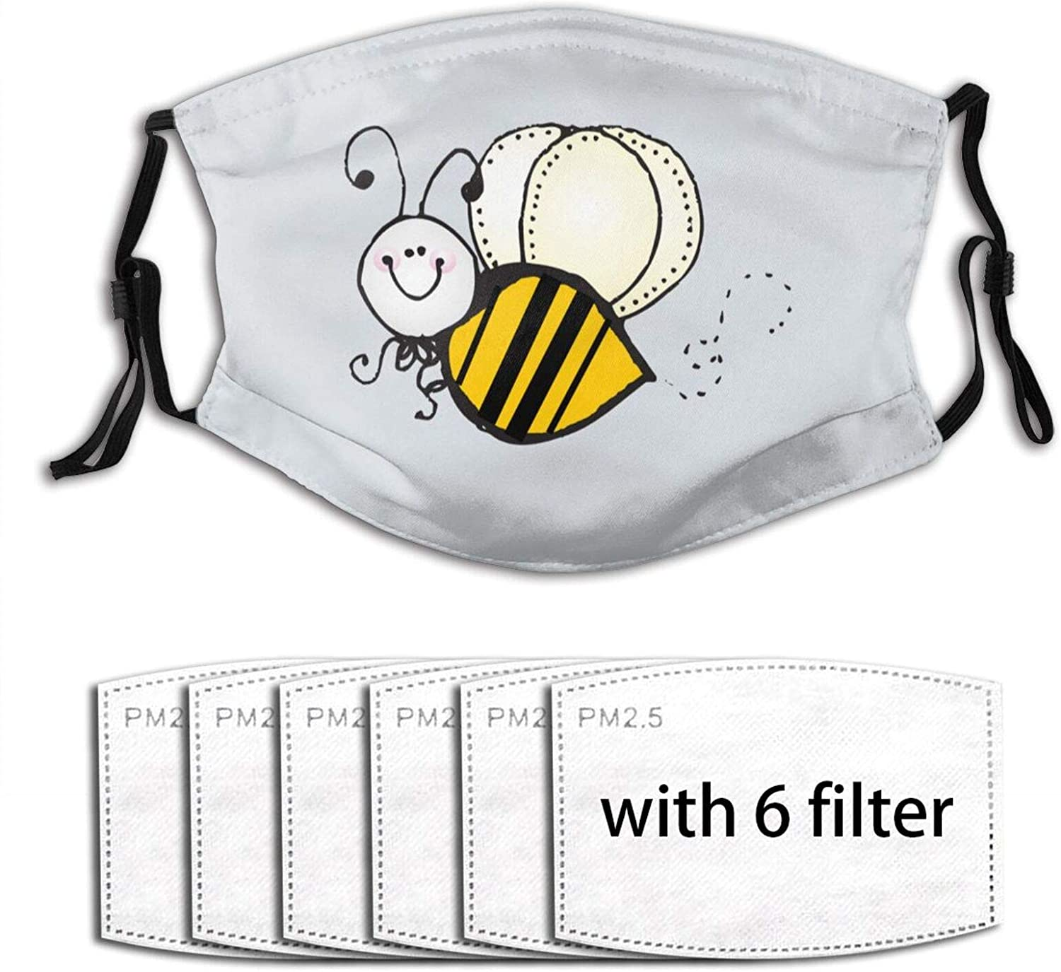 Cute Bumblebee Mens & Womens Dust Mask with Fiter Chip
