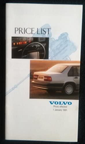 1991 VOLVO RANGE FULL-LINE PRICE LIST: 340, 440, 460, 480, 240, 940 & 960 SERIES COLOR SALES BROCHURE - BRITISH - GREAT ORIGINAL !!