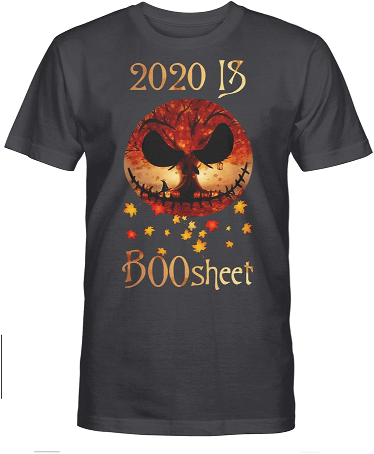 NovaStar T-Shirts Halloween Horror Skeleton 2020 is #Boo Sheet Funny Perfect T-Shirt Gift for Fans