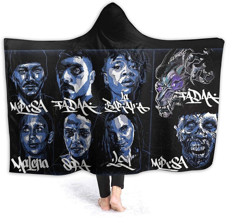 DARSOMISIN Dream Theater Logo Super Soft Adult Kids Hooded Blanket Wearable, Fluffy Tv Blanket with Hood, Game Blanket