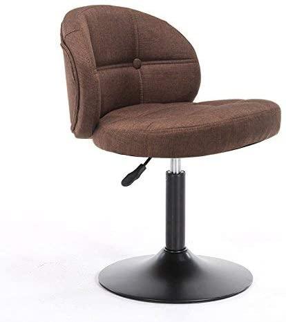 LWW Stools,Bar Stools Vintage Soft Cushions, Can Be Raised and Lowered Burlap Cushion Bar Creative High Chair Height 38-54Cm,C