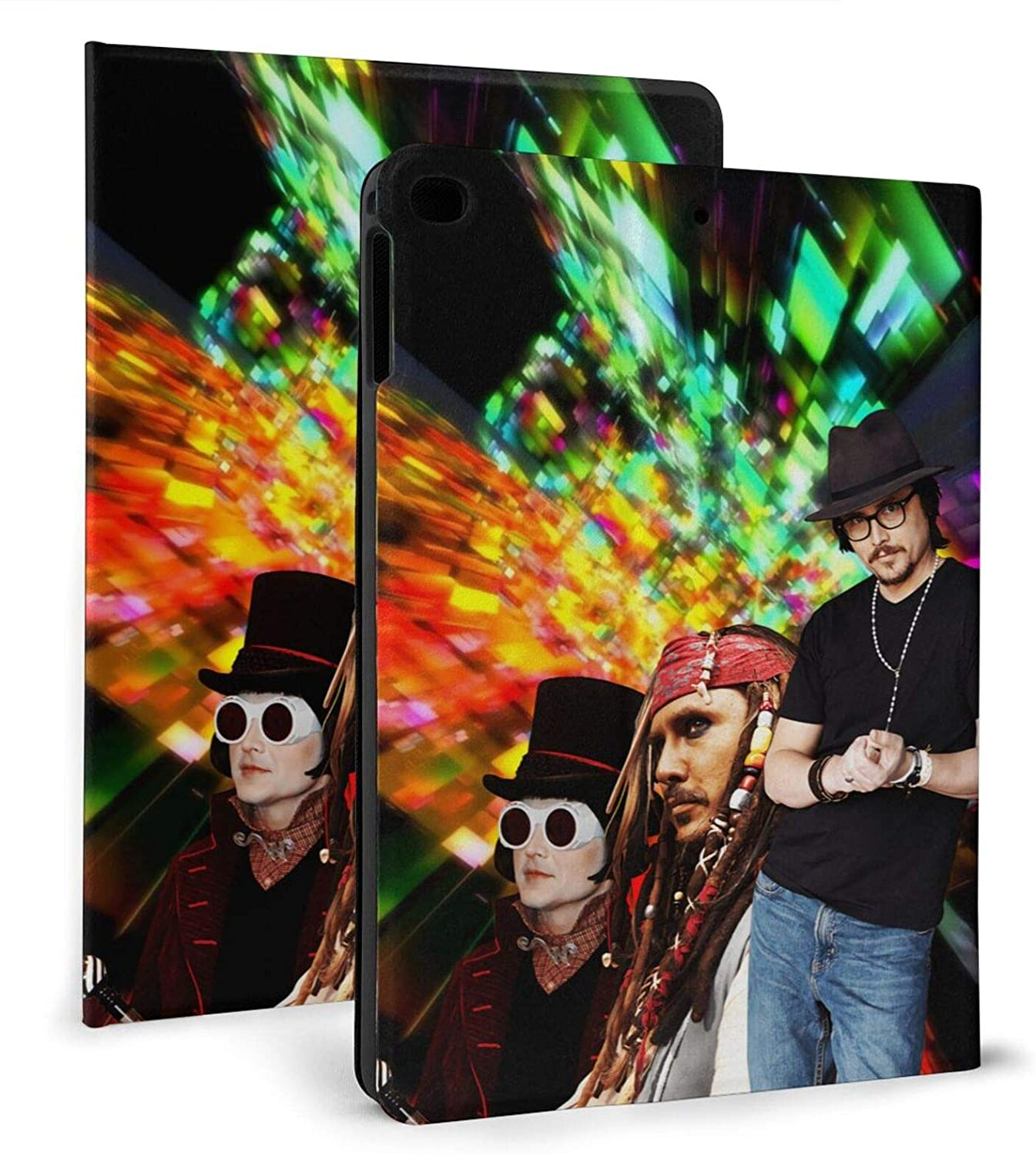 Johnny Depp PU Ipad Case Smart Cover with Auto Sleep/Wake Multiple Viewing Angles Ipad air1/2 9.7