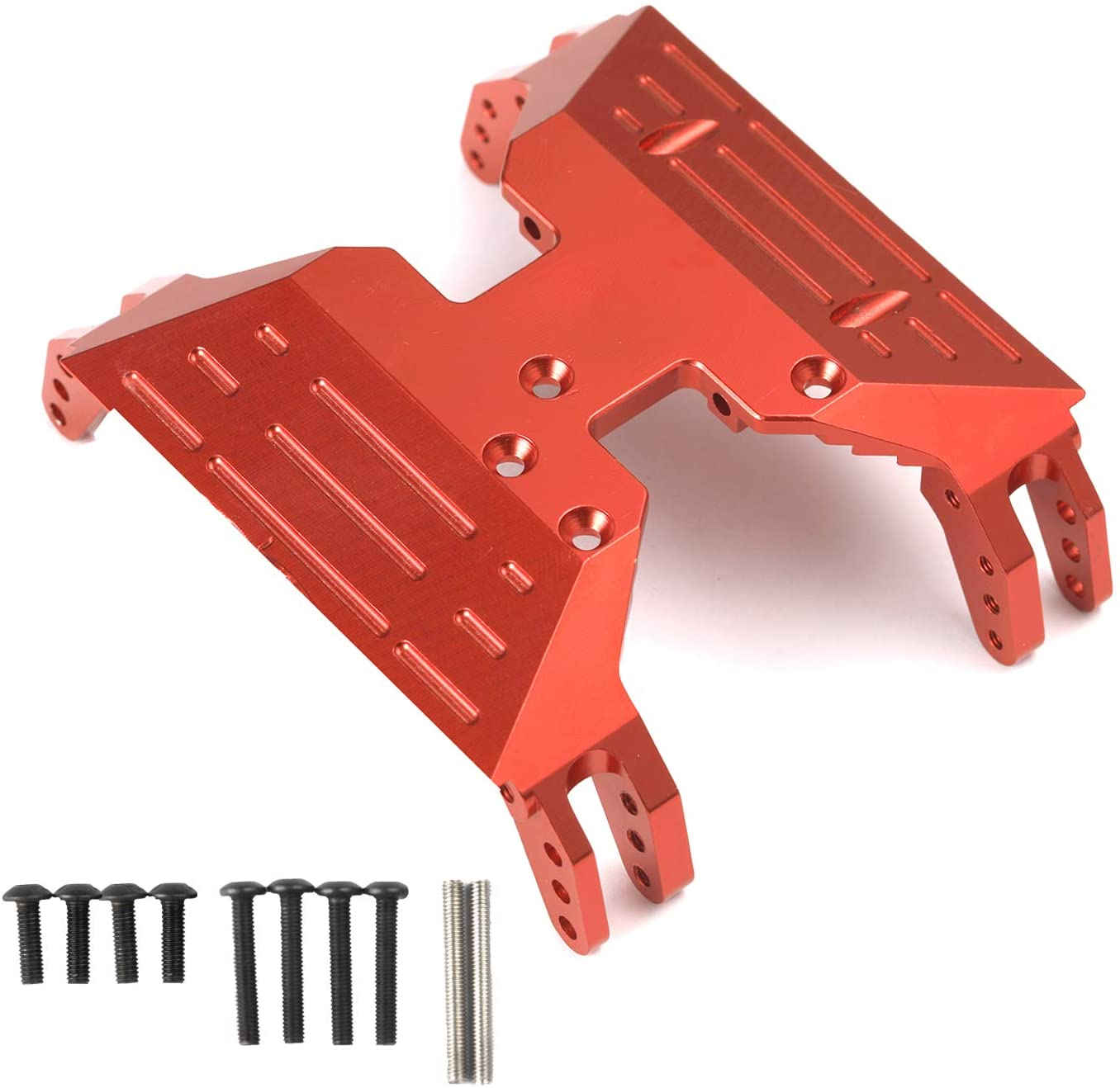 RZXYL Aluminum Centre Skid Plate for Axial Capra 1.9 UTB AXI03004 RC Crawler Car Upgrade Parts (Red)