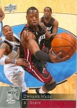 Dwyane Wade basketball card (Miami Heat World Champion) 2009 Upper Deck #95