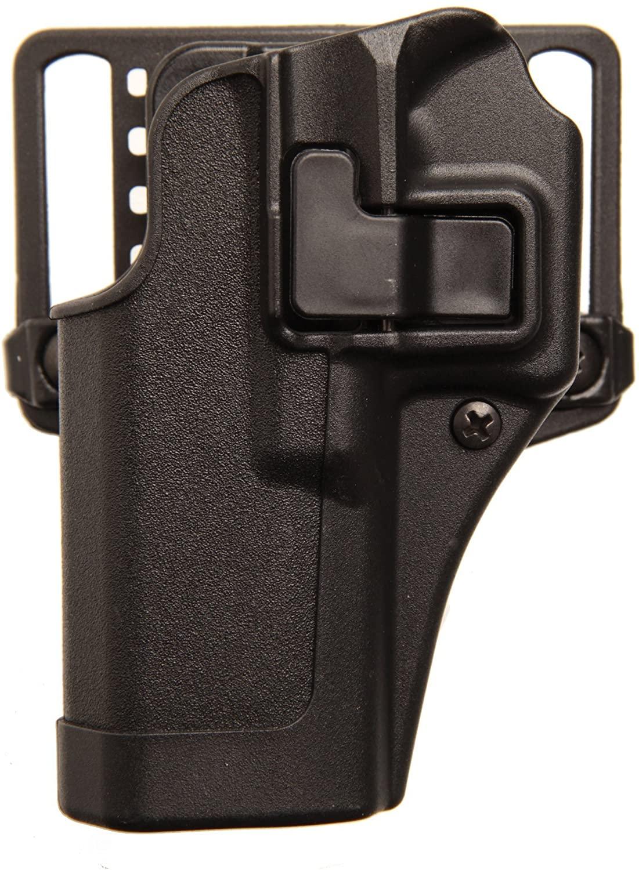 BLACKHAWK Serpa CQC Belt Loop and Paddle Holster For Glock 17/22/31 - Left Hand, Black