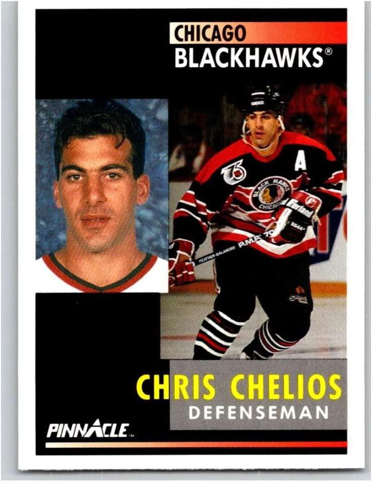 1991-92 Pinnacle #58 Chris Chelios Blackhawks