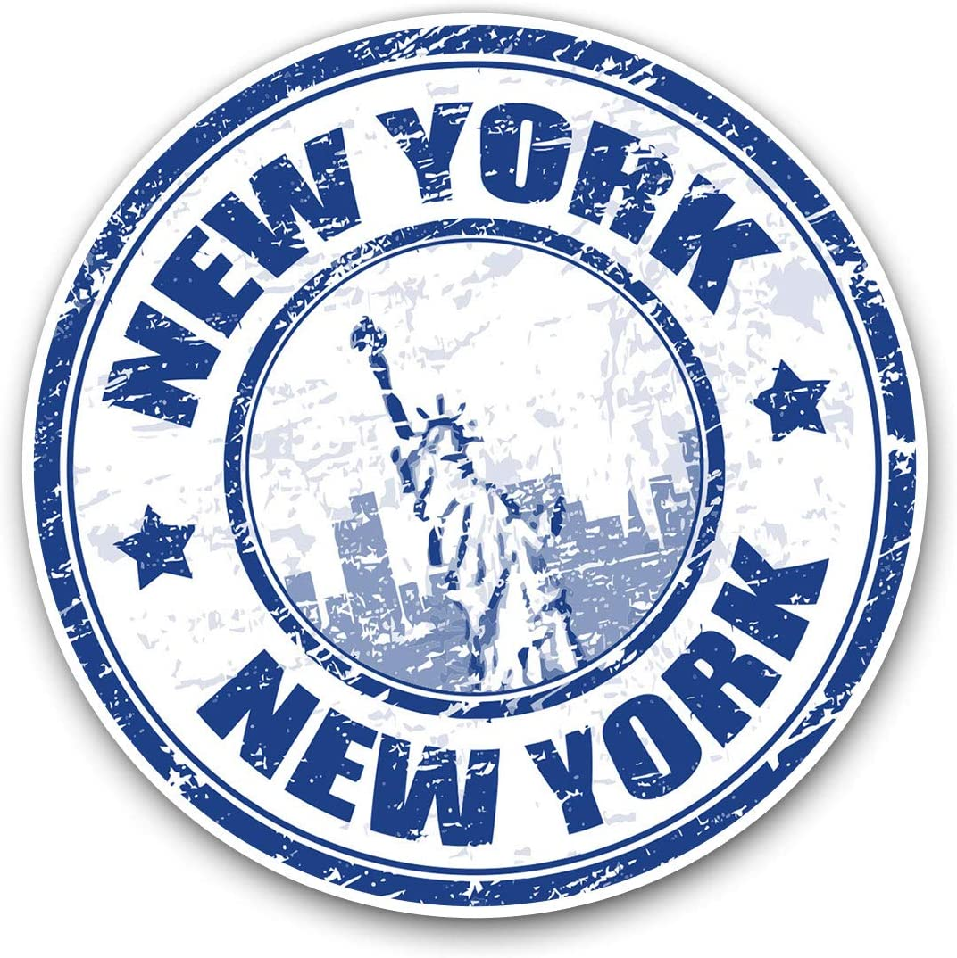 Awesome Vinyl Stickers (Set of 2) 10cm - New York USA Statue of Liberty Fun Decals for Laptops,Tablets,Luggage,Scrap Booking,Fridges,Cool Gift #5948