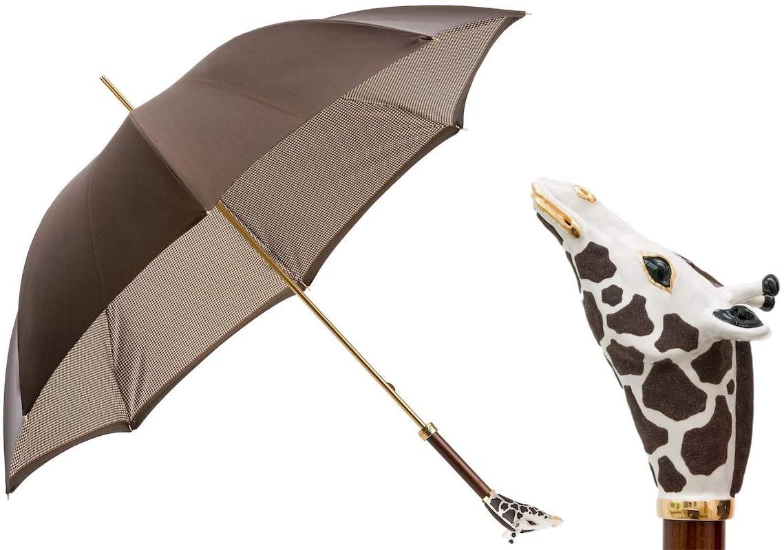 Pasotti 189 1408-19 K8 - Luxe Giraffe Umbrella. Double Cloth
