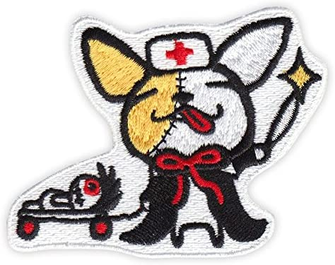 ICONA Embroidery Sticker Patch - Chihuahua - Vampire