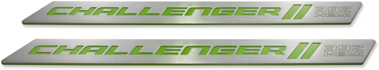 American Brother Designs ABD-3202PFB392 Door Sill, Set of 2 Matched Color-Sublime-Paint Code PFB, Challenger 392 HEMI Logo