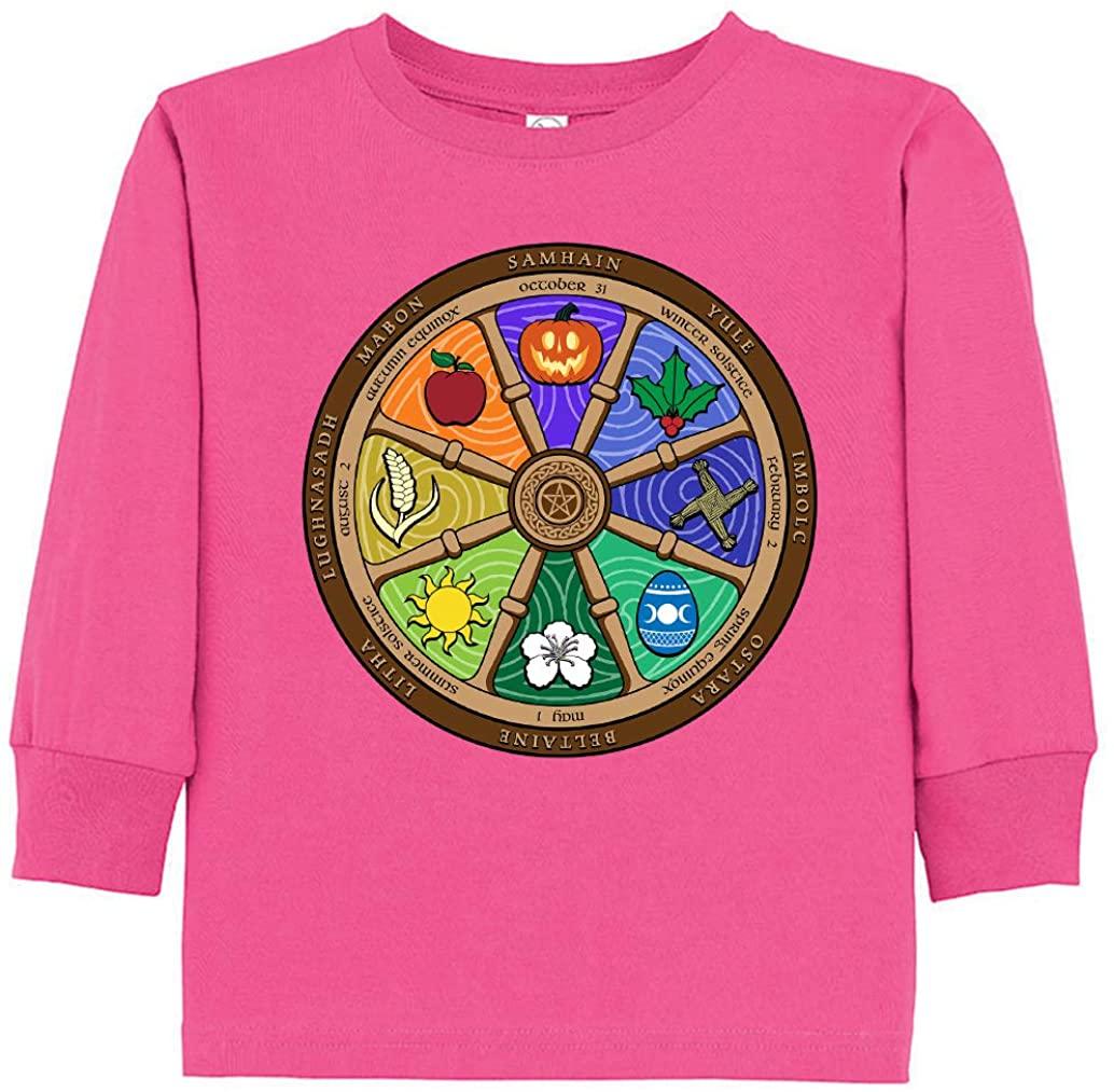 Tenacitee Toddler's Colorful Pagan Year Wheel Long Sleeve T-Shirt