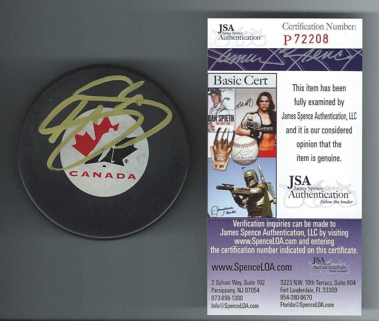 Joe Sakic Signed Team Canada Puck Colorado Avalanche Jsa Authenticated P72208 - Autographed NHL Pucks