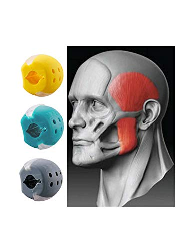 Jaw Exerciser Set Jawline Exercise Ball and Neck Toning For beginner Face Double Chin Reducer Eliminator Jawline Shaper Facial Exerciser Ball (Gray)