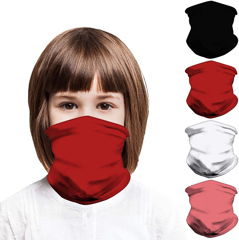 Mural Wall Art Kids Face Mask Bandanas, Full-Coverage Tube Bandana UV Protection Neck Gaiter Headband for 3-12 Years Boys Girls