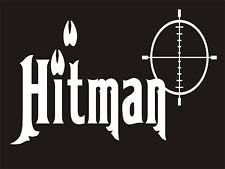 Hitman Deer Hunting Vinyl Decal Sticker|Cars Trucks Vans Walls Laptops|White|5.5 in|KCD577