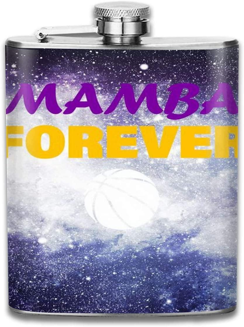 Flagon 2 Pcs Hip Flask for Liquor U-Shaped Mamba Forever 304 Stainless Steel Leak-Proof Alcohol Whiskey Liquor Wine 7OZ Pot Hip