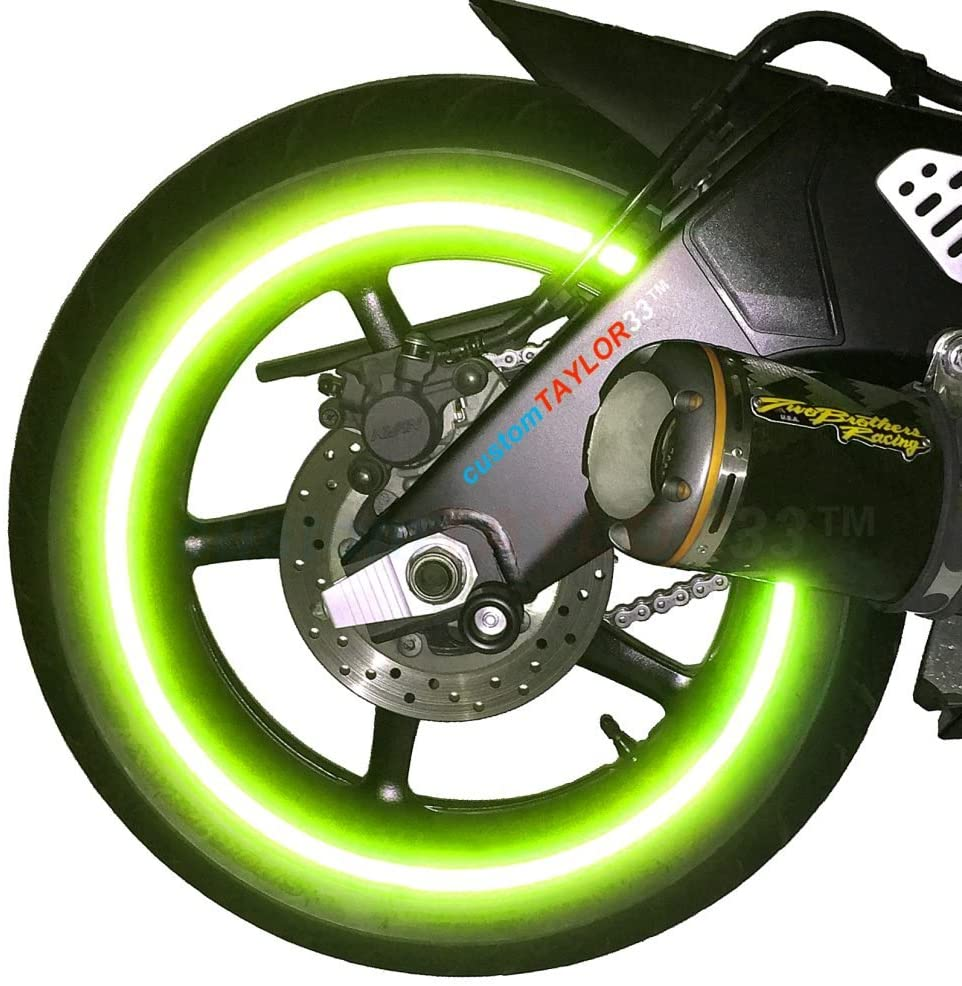 customTAYLOR33 New Special Edition Lime Green High Intensity Grade Reflective Copyrighted Safety Rim Tapes, 17