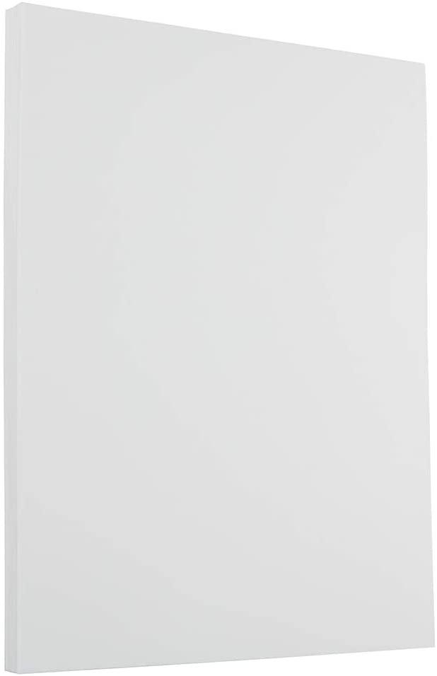 JAM PAPER Strathmore 24lb Paper - 8.5 x 11 - Bright White Laid - 100 Sheets/Pack