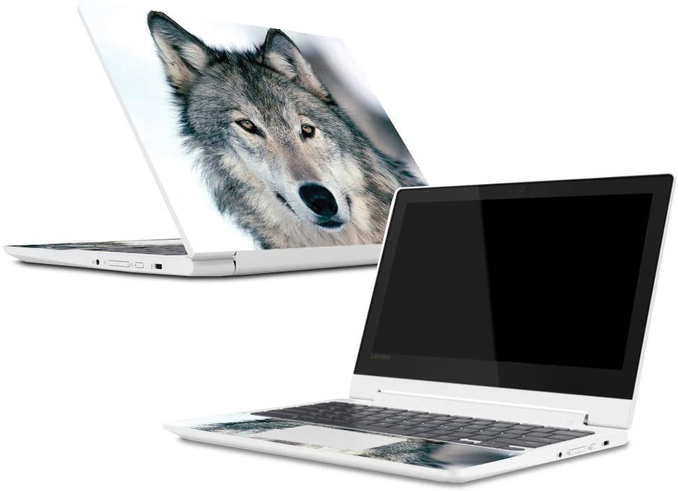 Mightyskins Skin Compatible with Lenovo Chromebook C330 (2018) - Wolf | Protective, Durable, and Unique Vinyl Decal Wrap Cover | Easy to Apply, Remove, and Change Styles | Made in The USA