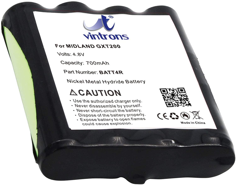 VINTRONS BATT4R, BATT-4R Battery for Midland G225, G300, GXT200, GXT250,