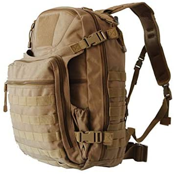 FieldTEQ Outdoor Venture Backpack - Military Tactical and Survival Pack and Bug Out Bag Molle webbing for Camping Hunting Hiking Trekking