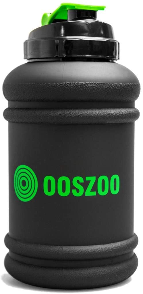 OOSZOO Water Bottle - Drink, Liquid, Shake, Juice Jug for Sports, Gym, Workout, Fitness, Exercise - Large 2.2L / 74oz Capacity, Strong Tritan Plastic, Flip Top Cap - Dishwasher Safe, No BPA or DEHP