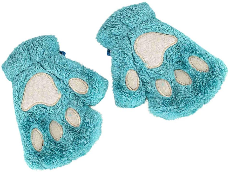 Women Winter Wrist Arm Warmer Knitted Keyboard Long Fingerless Gloves Mitten, Gloves, Clothing Shoes & Accessories