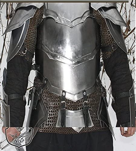 NauticalMart LARP Fantasy Medieval Costume Steel Armour Cuirass (Front and Back)