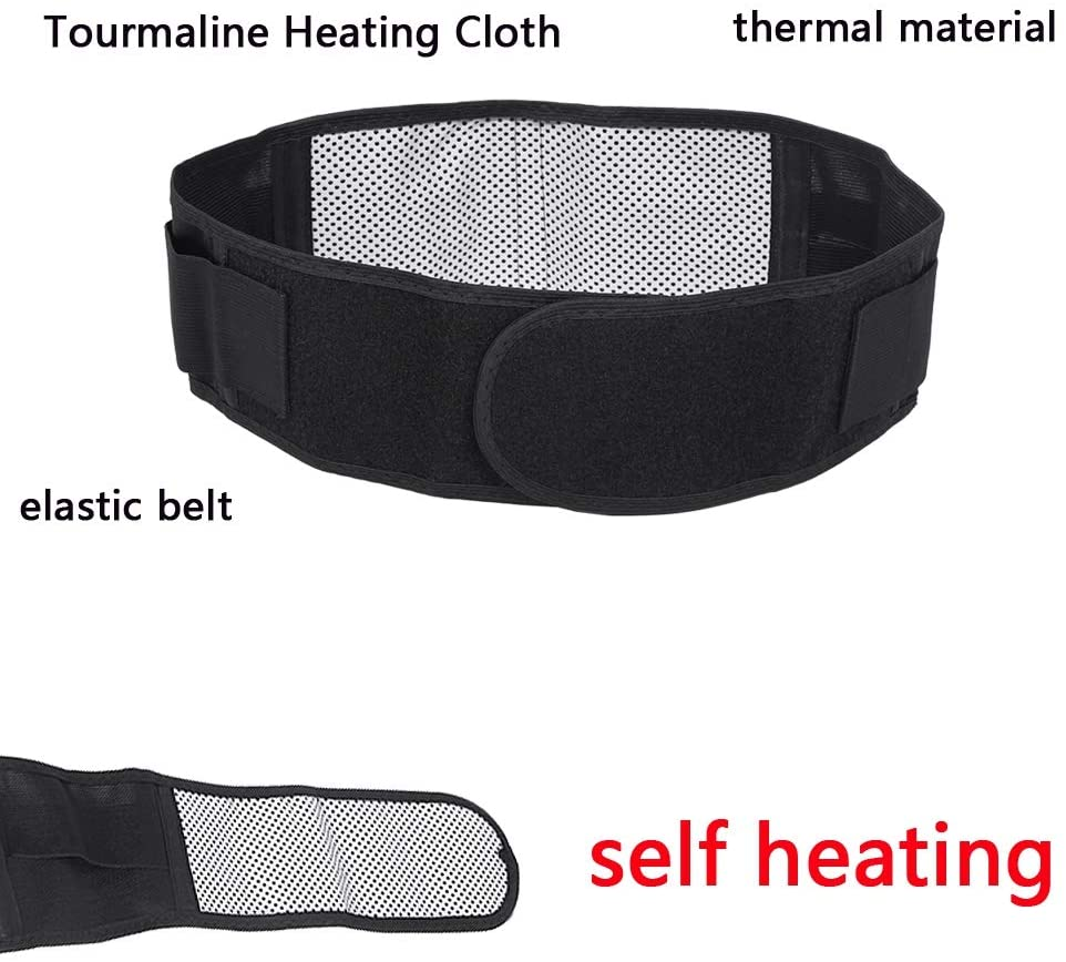nulala Self-Heating Belt Thermal Magnetic Heat Waist Belt Pain Relief Lower Back Lumbar Therapy Support Back Waist Brace Double Band