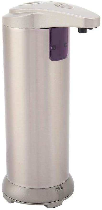 DEWIN 250ml Touchless Automatic Soap Liquid Dispenser,Stainless Steel Touch-Free Lotion Shampoo Dispenser for Bathroom