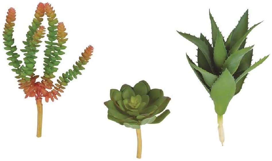 Mud Pie Mini Faux Succulent Stem (Aloe, 9)