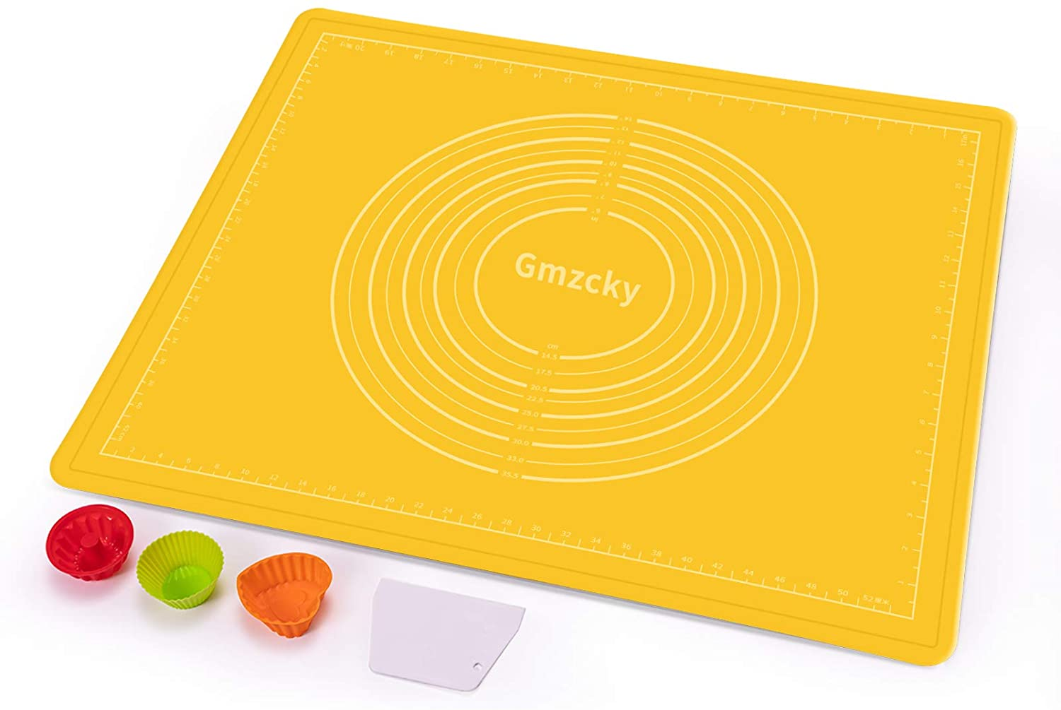 Gmzcky [23.4×19.5, orange]Upgraded Version- Baking Mat, a Waterproof Silicone Baking Mats With a Physical Scale [Non-Printed ] Baking Supplies, Makes Cooking Easier And More Hygienic.