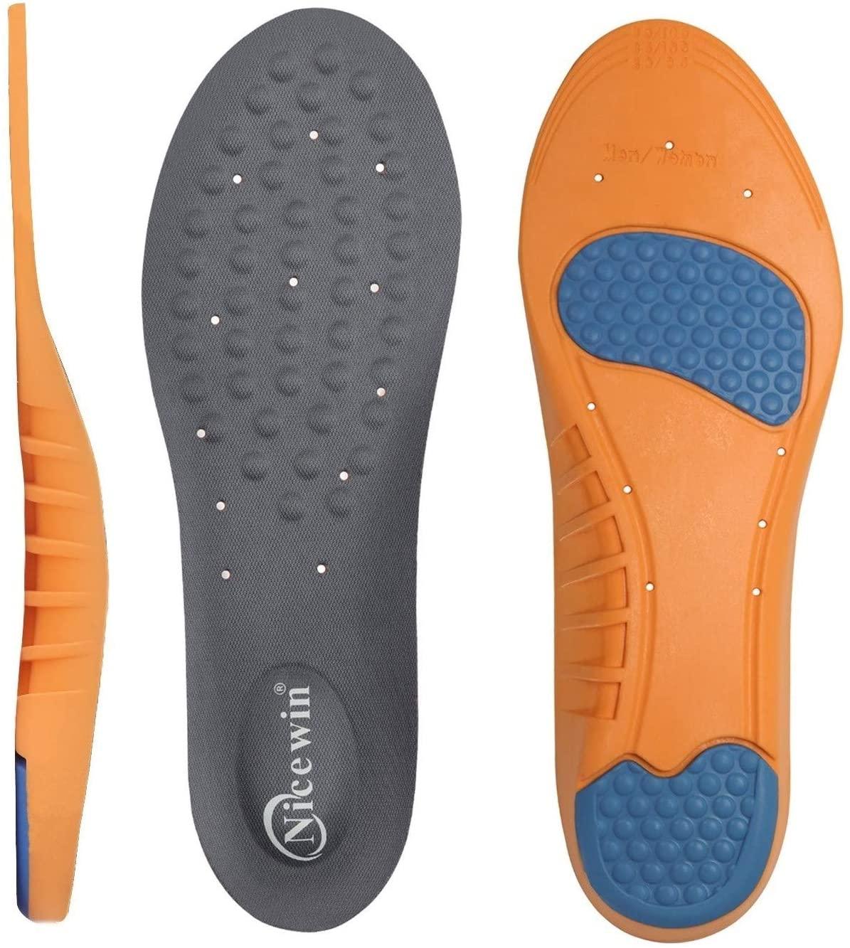 Arch Support Shoe Insoles for Men Women Work Boot Plantar Fasciitis Foot Pain Relief Shin Splint