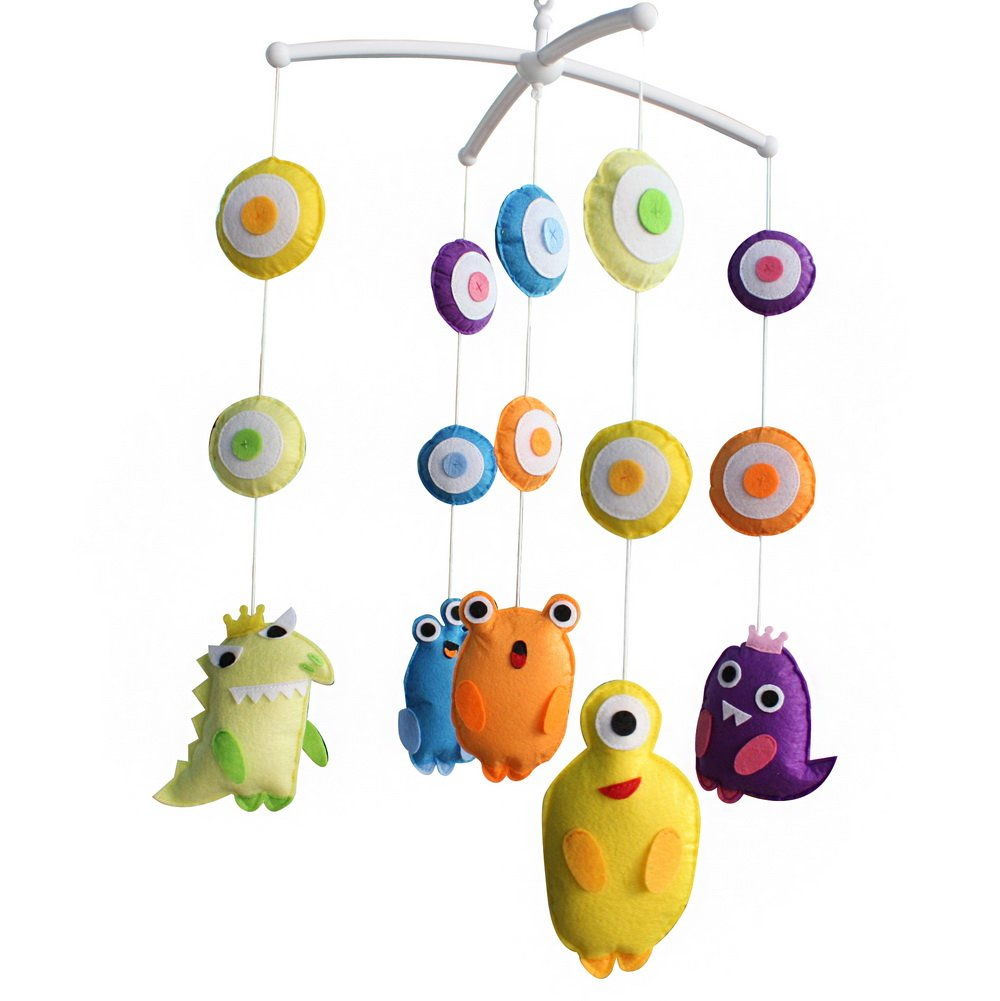 Baby Musical Toy Crib Mobile Bell to Help Baby Fall Asleep, Animal Type, D05