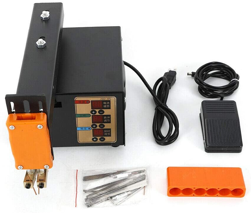 3KW Battery Pack Spot Welder, JSD-IIS LED Pulse Spot Welder Handheld Soldering Machine with Pedal Control